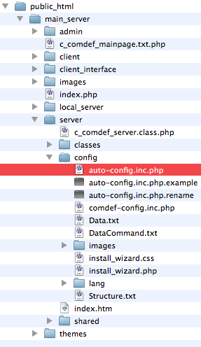 Config File Location Location