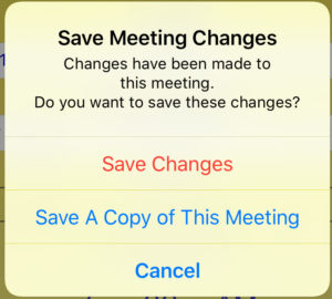 Save Changes Alert